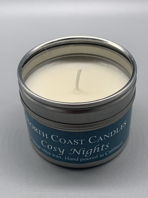 Cosy nights soya wax tin candle