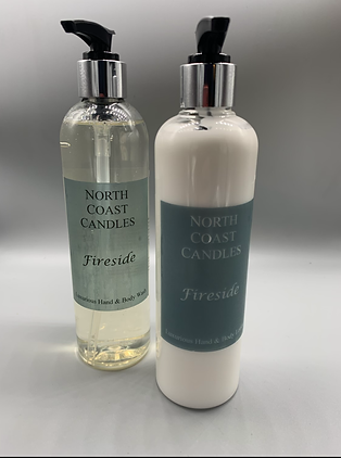 Fireside luxurious hand and body wash set