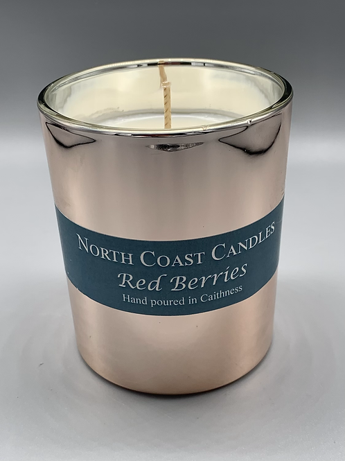 My beautiful Rose Gold red berries candle