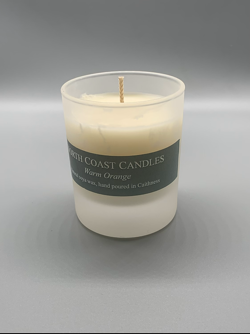Warm orange soya wax candle