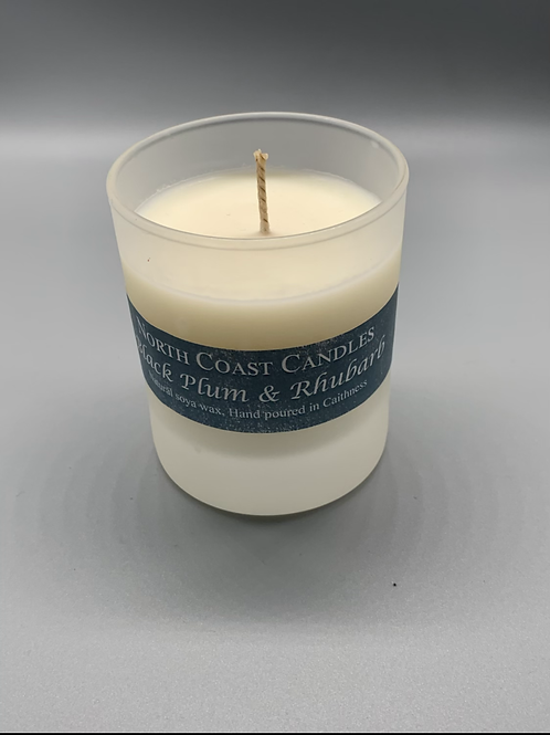 Black plum & Rhubarb soya wax candle