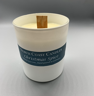 Crackle woodwick Christmas spice soya wax candle