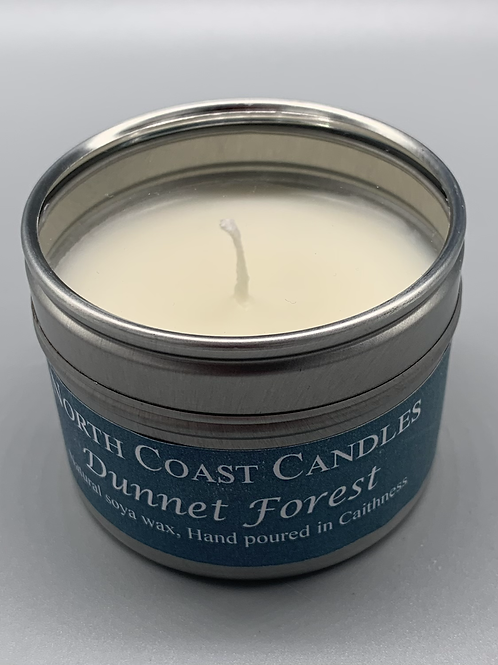 Dunnet forest soya wax candle tin