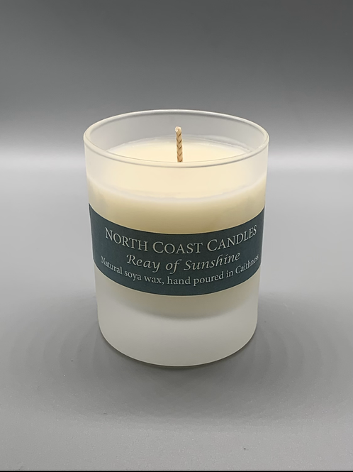Reay of sunshine soya wax candle