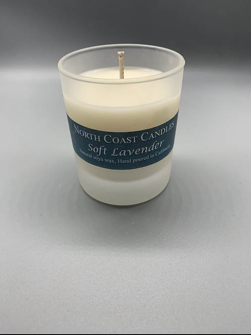 Soft lavender Soya wax candle