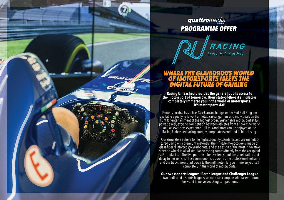 quattro media Racing Unleashed Programme