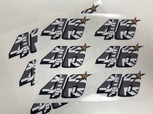 TB46 Helmet / Bike Stickers x 3