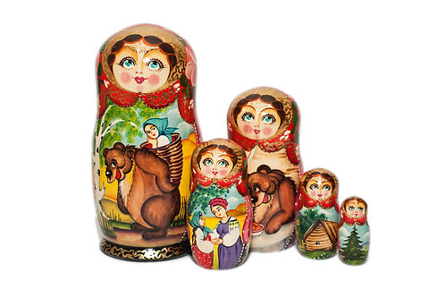 Storyteller Nesting doll - Goldilocks and the Bear