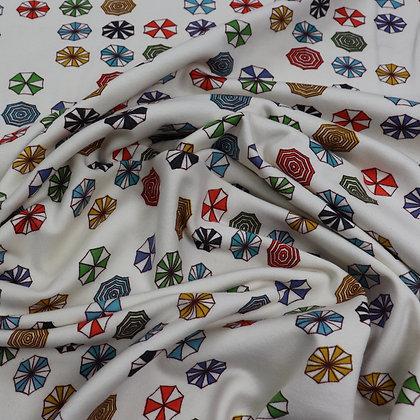 White Multicolor Jersey