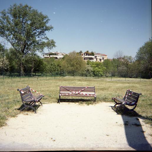 Crema, Parco sul fiume Serio, marzo 2020