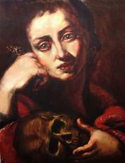 After Ribera, Penitent Magdelene