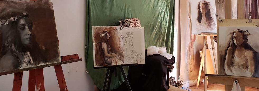 Studio Portrait Painting Class, Maya Mod
