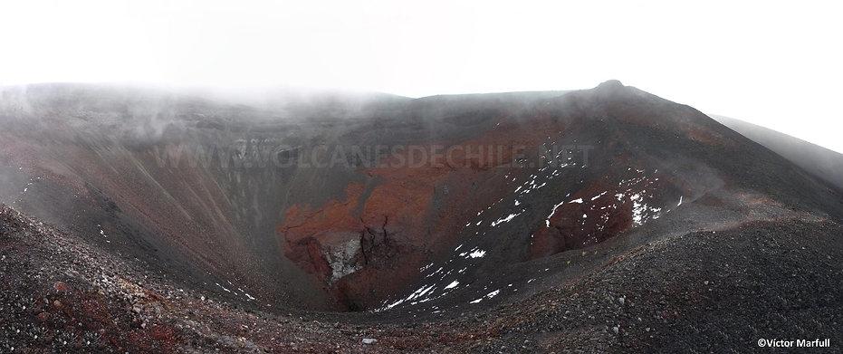 Cráter en Cono Navidad (vista actual)