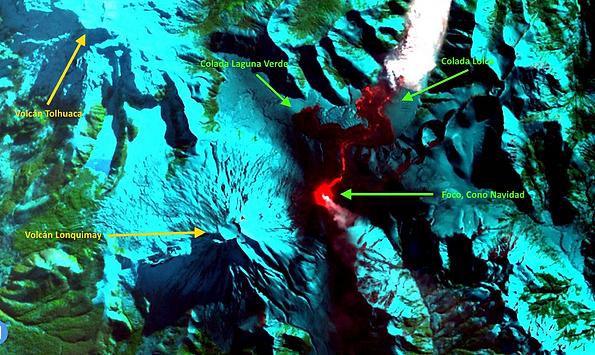 Imagen satelital Cono Navidad