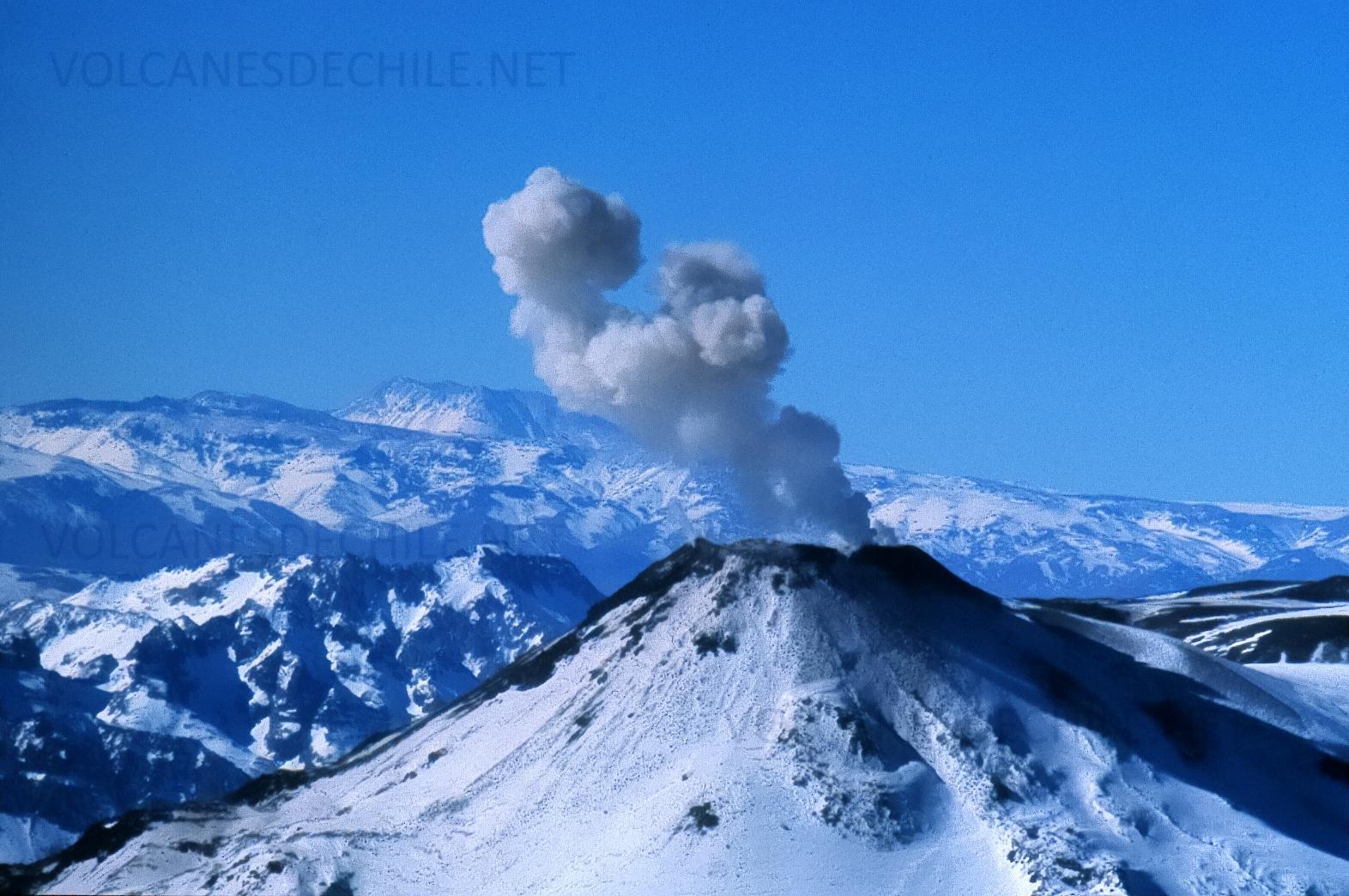 Erupción Volcán Chillán Nuevo - 2003