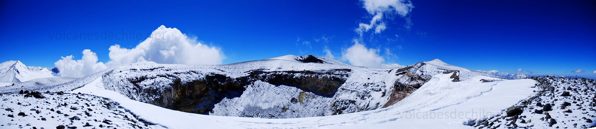 Cráter en Volcán San José