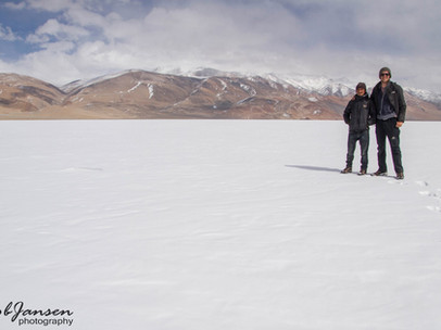 Me and my guide at Tso Moriri