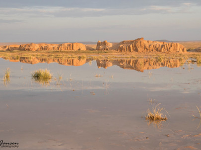 Lake nearby Flaming Cliffs