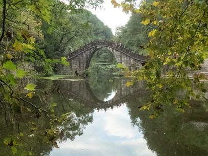 Old bridge in park