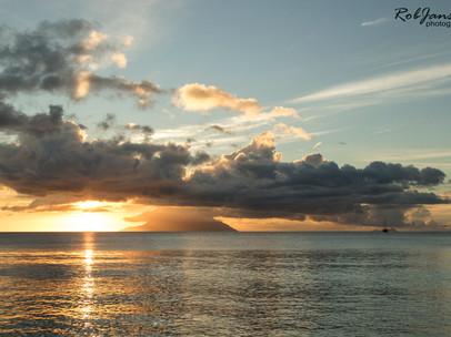 Sunset at Beau Vallon