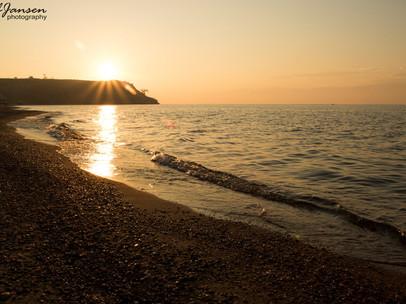 Sunset Baikal Lake