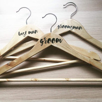 Groomsmen Coat Hanger Decals