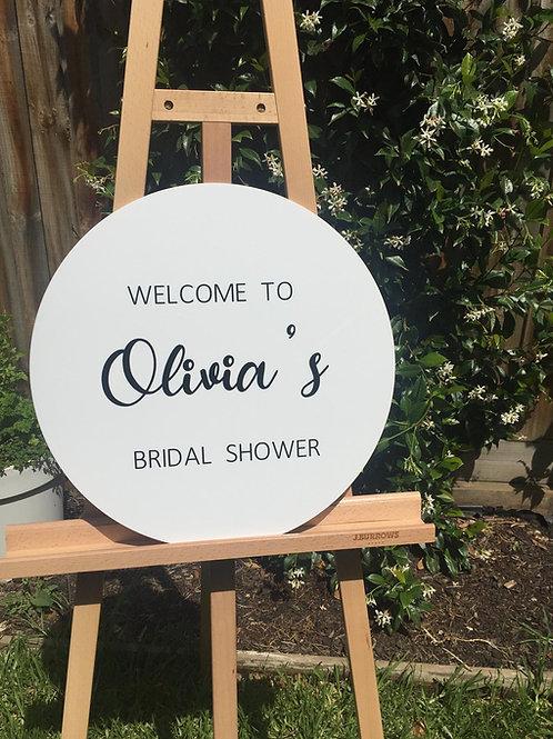 Round Acrylic Sign