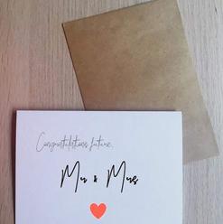 Congrats Mr & Mrs