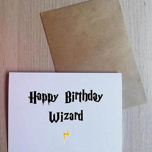 Happy Birthday Wizard Card