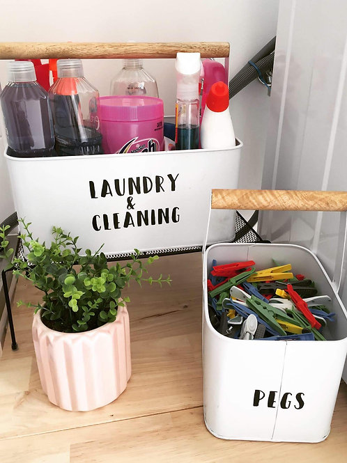 Laundry Organisation Decal Pack