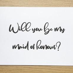 Proposal Card - Bridesmaid