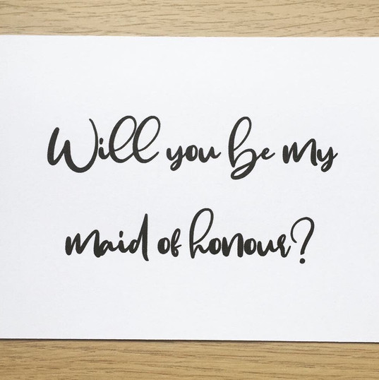 Proposal Card - Bridesmaid
