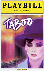 Taboo On Broadway Playbill