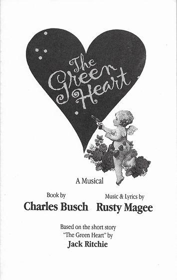 The Green Heart Musical Book By Charles Busch