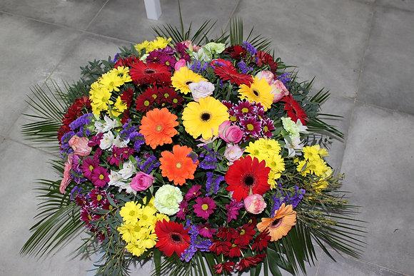 Coupe ronde fleurs et coloris variés