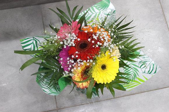 Bouquet bulle gerberas