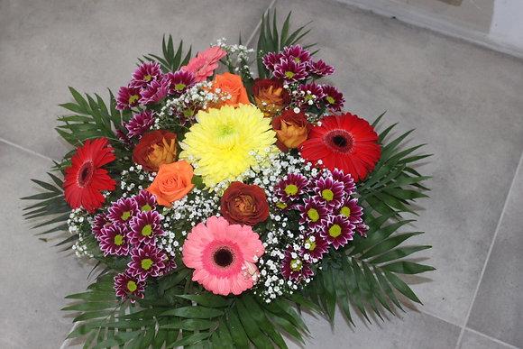 Coupe de fleurs dominante violet/rouge