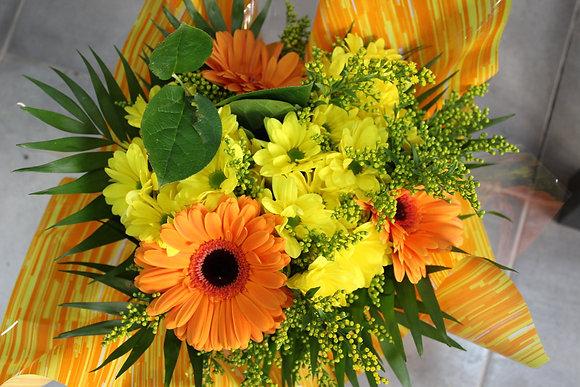 Bouquet dominante jaune et orange