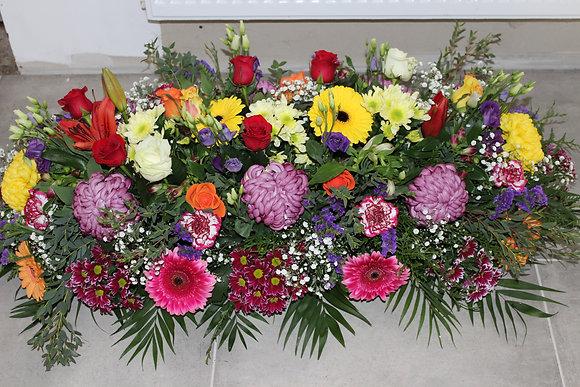Dessus de cercueil couleurs variées