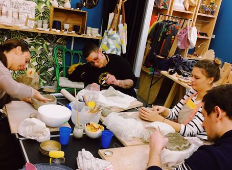 """Ateliers """"Terre"""" à l'Association des créateurs de Villejuif, une nouvelle adresse créative"""