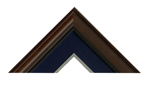 Large Print: Navy/Grey Mats with Wood Frame