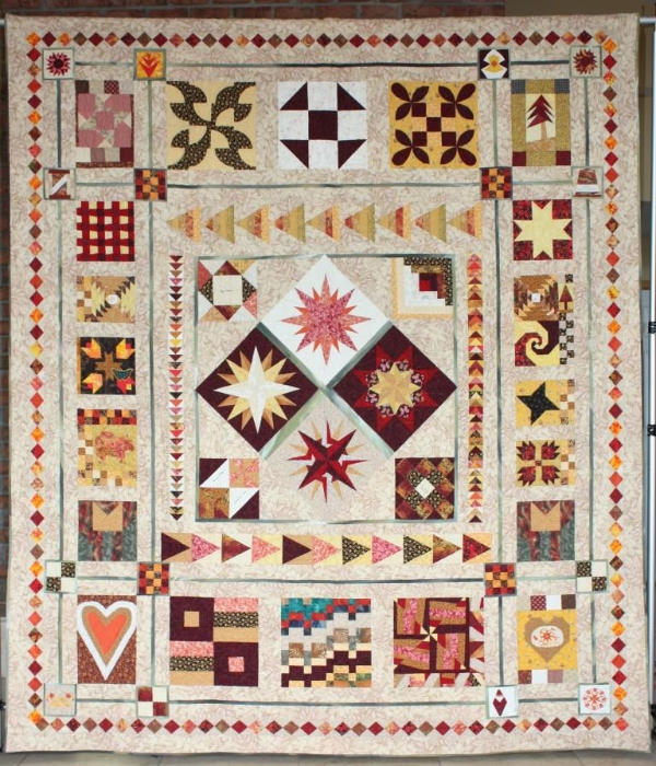"Sampler Quilt ""Newport Friends"""