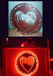 Love & Lions Den DJ Booth Sign