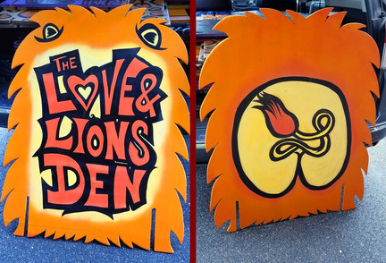 Love & Lions Den Sign