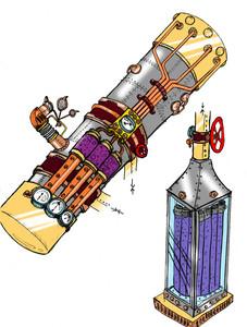 Steampunk Telescope Concept