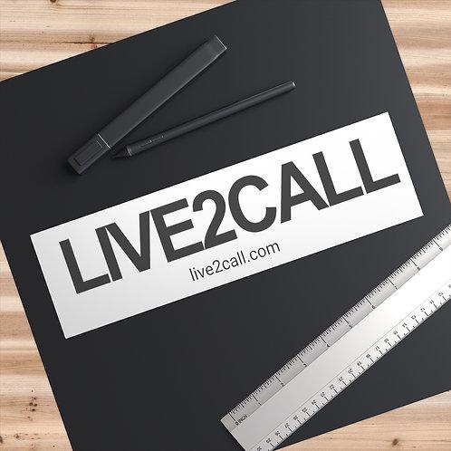 LIVE2CALL Logo Bumper Stickers