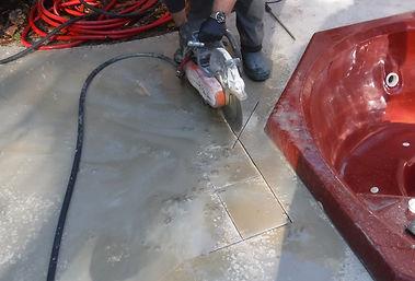 Cutting Concrete Deck