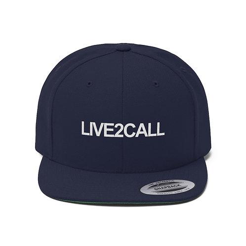 LIVE2CALL Flat Bill Hat