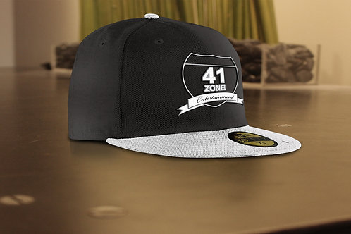 Black Team 41 Zone 5 Panel Snapback