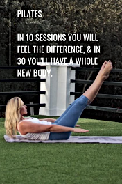 Pilates In 10 sessions you will feel the